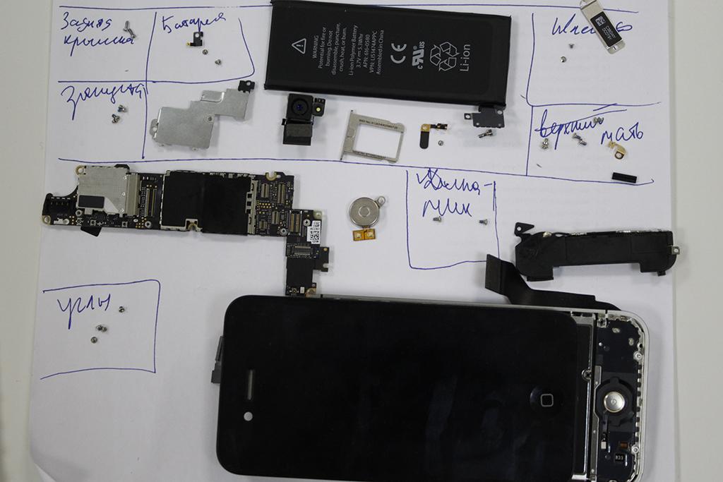 замена дисплея айфон 4s инструкция