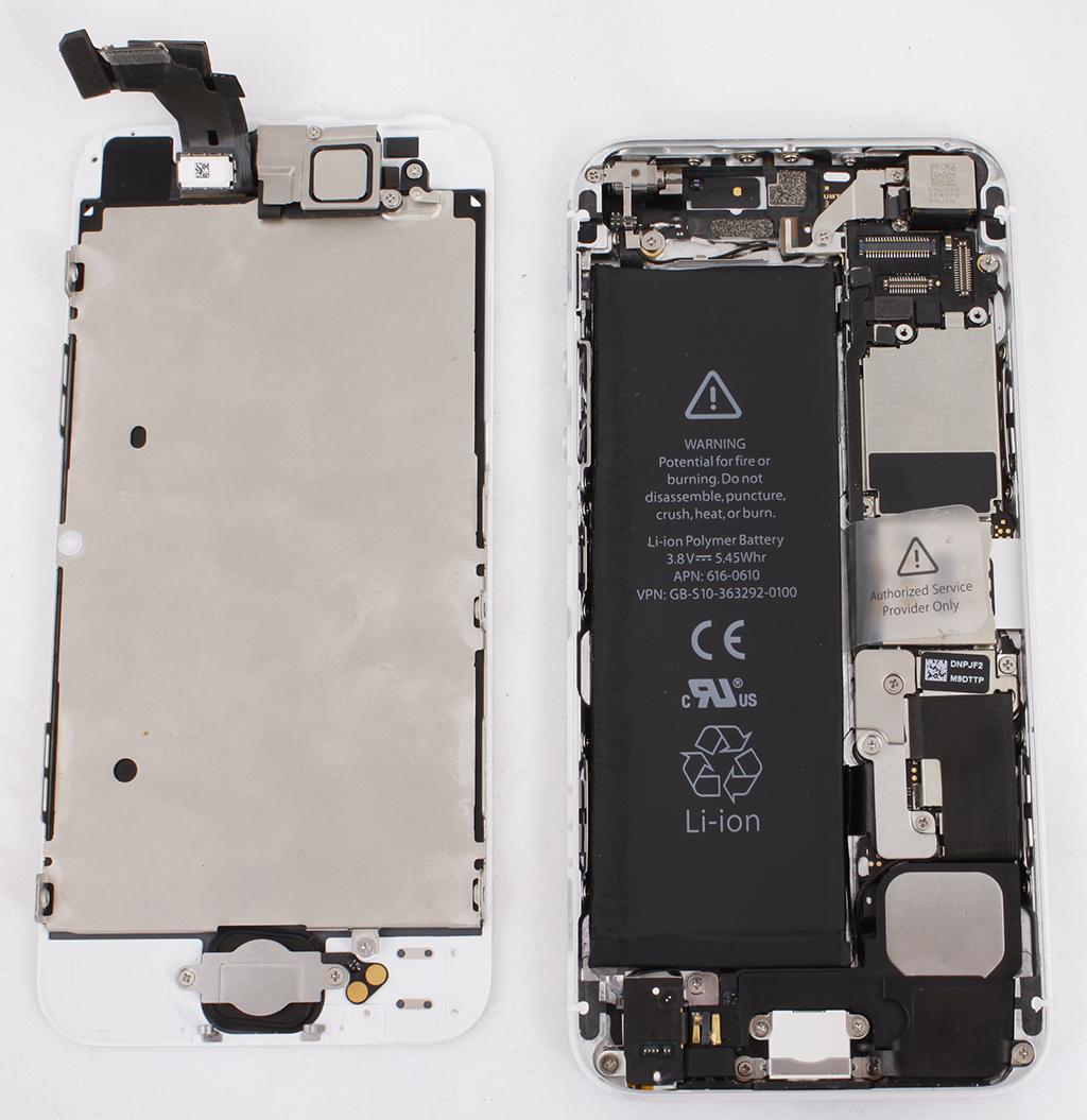 замена тачскрина iphone 5