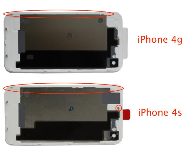 разница айфон 4 и 4s фото