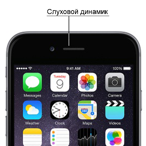 iphone замена слухового динамика