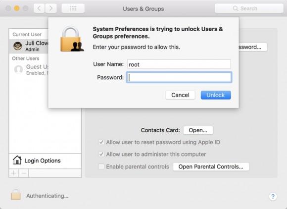 Критическая уязвимость Mac OS High Sierra