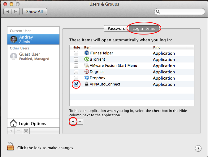 automatic vpn connection and reconnection in macos x