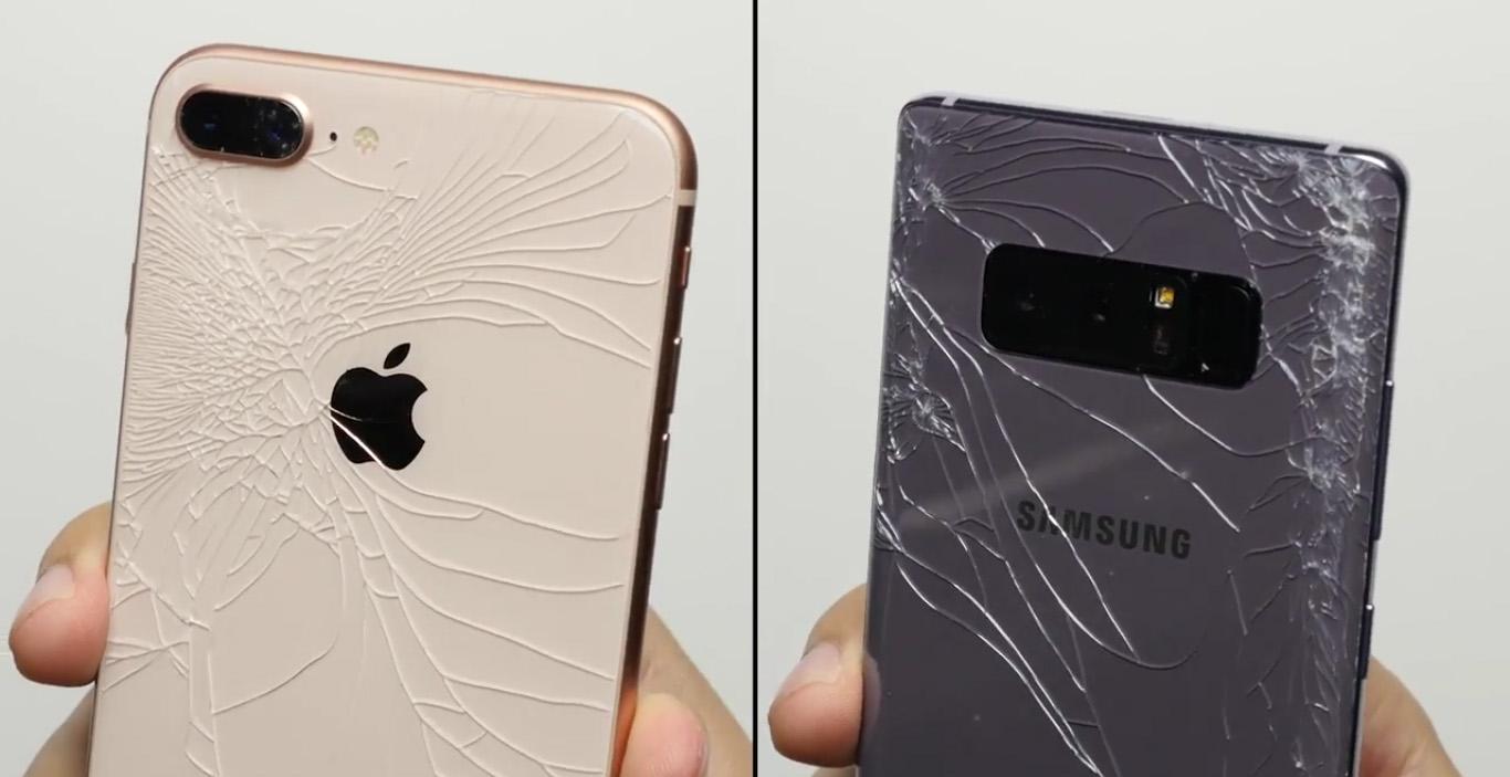 Падение iPhone 8