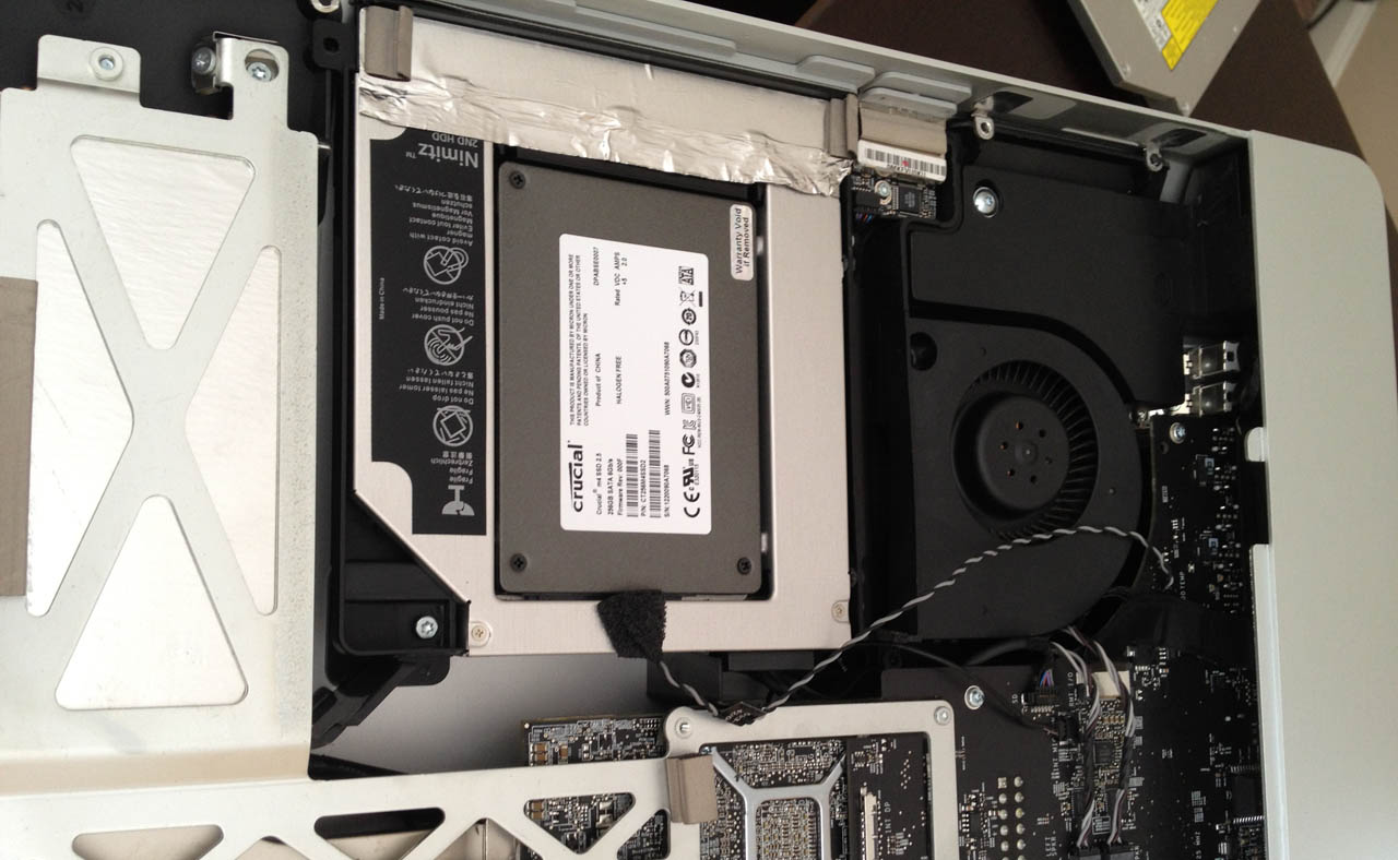 Установка SSD на iMac 2011 года A1312