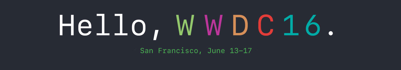 wwdc apple 2016 june