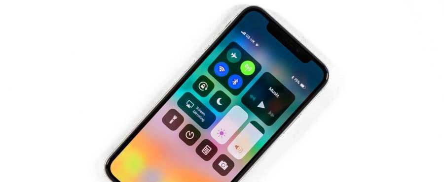 как включить проценты на iPhone X