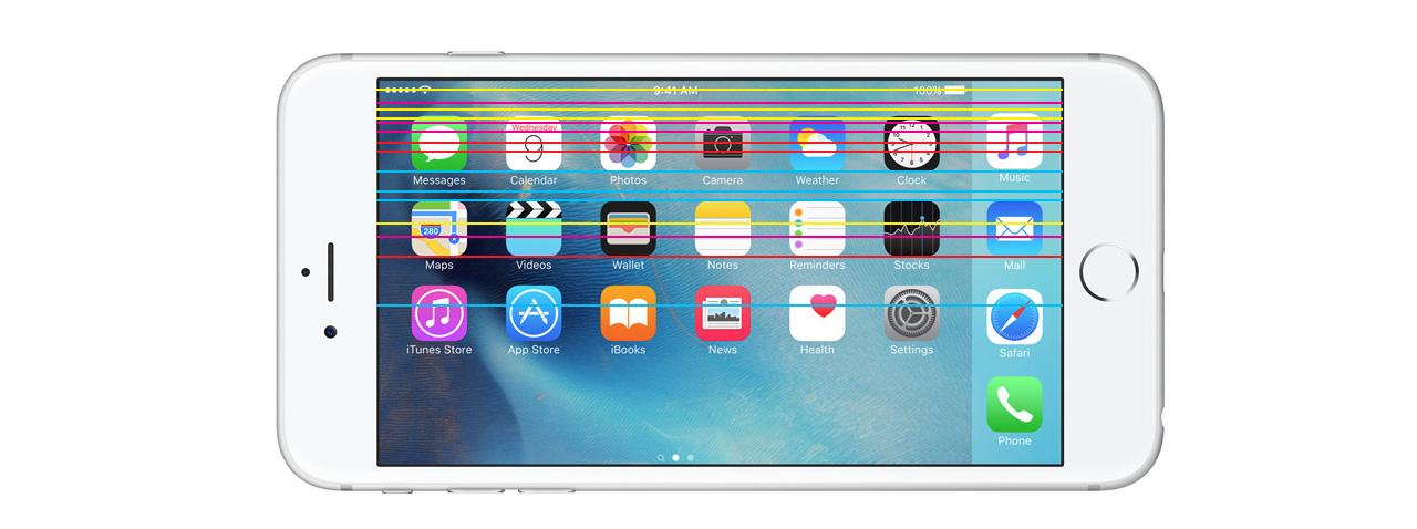 Полосы на экране iPhone 8