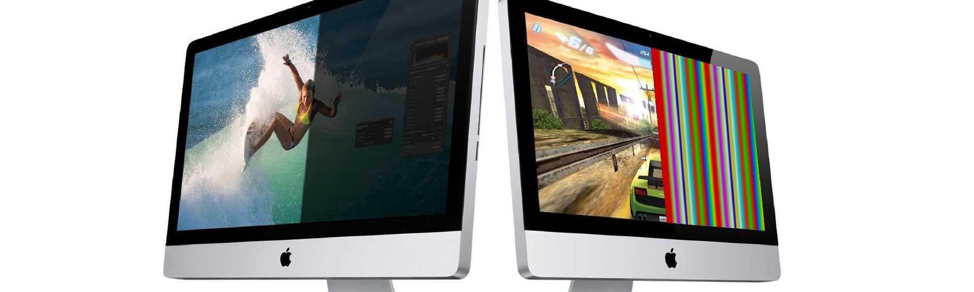 iMac пол экрана