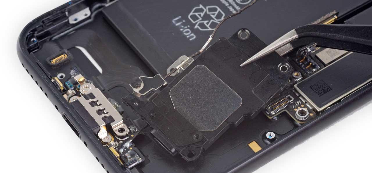замена полифонического динамика iPhone 7, замена нижнего динамика на iPhone 7