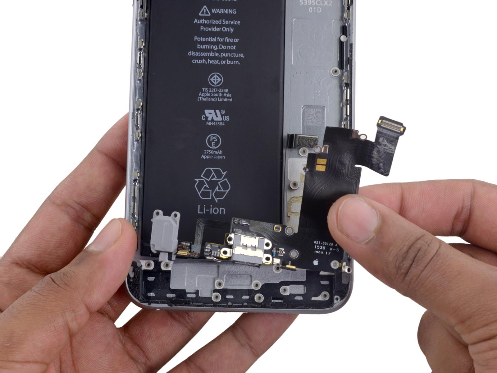 замена разьема зарядки iphone 7