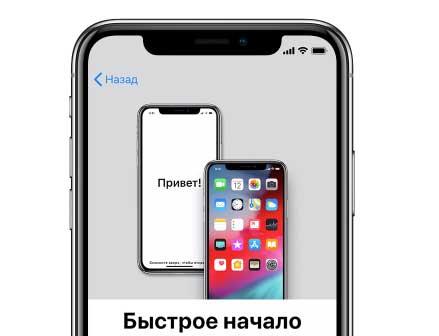 настроить быстрое начало iphone x