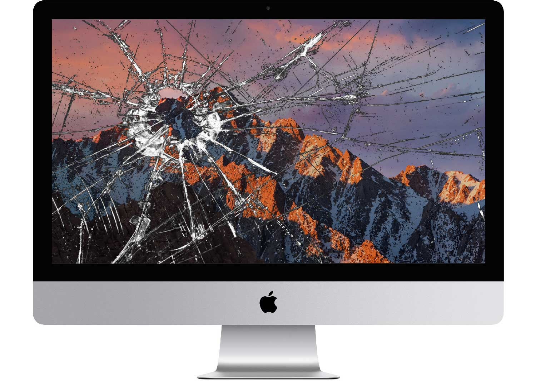 замена матрицы iMac, замена защитного стекла imac