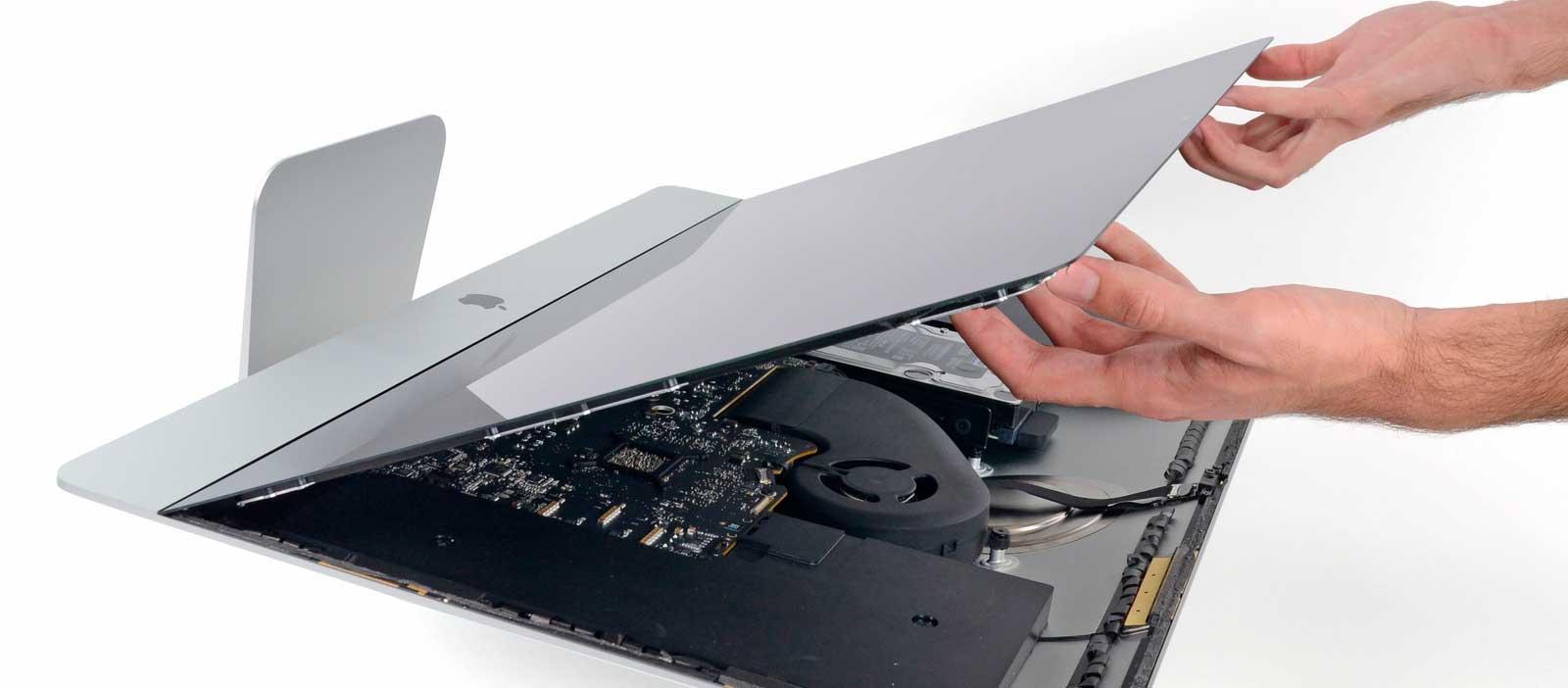 Замена защитного стекла и матрицы iMac Retina