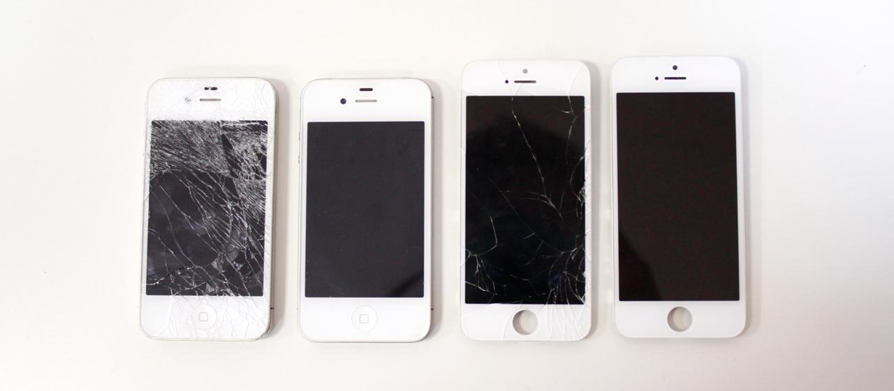 Замена тачскрина iPhone 4, 4s, 5, 5s, 5c