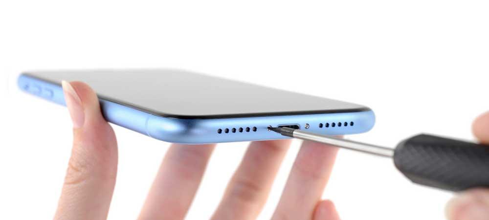замена нижнего динамика iPhone XR