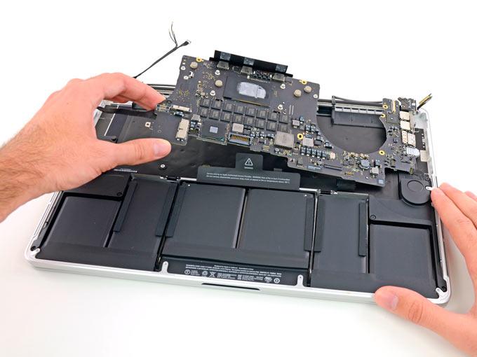замена аккумулятора macbook pro 13